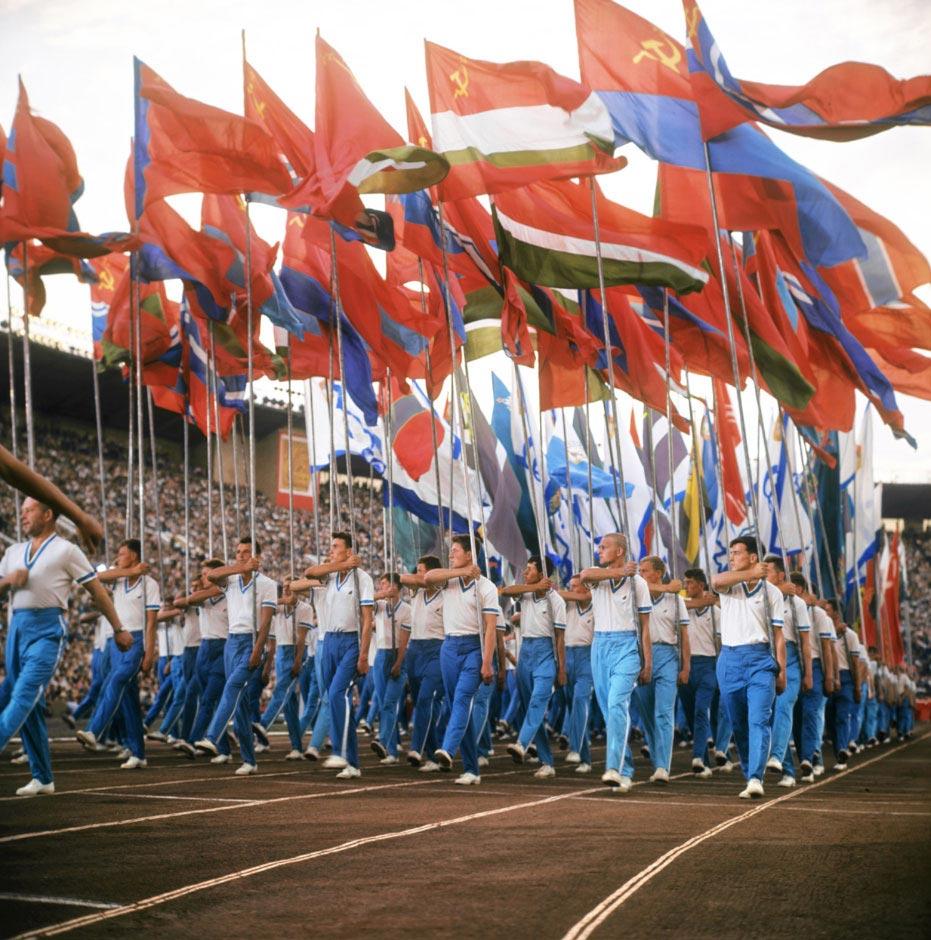 Парад физкультурников в Москве, 12 июня 1968