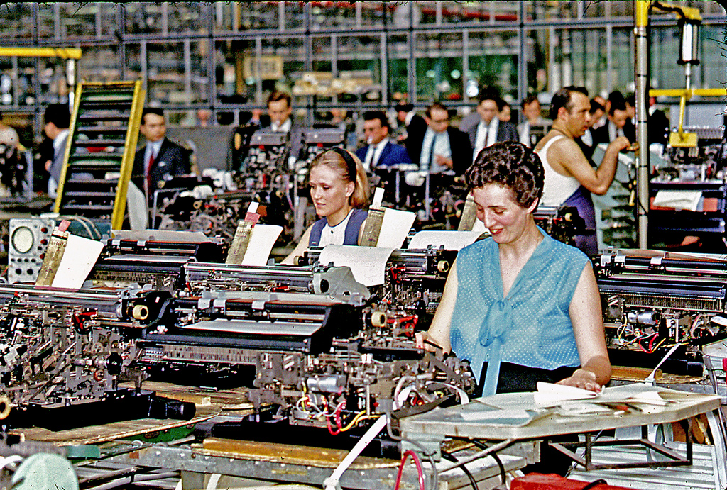 1968 Olivetti's factory of Ivrea