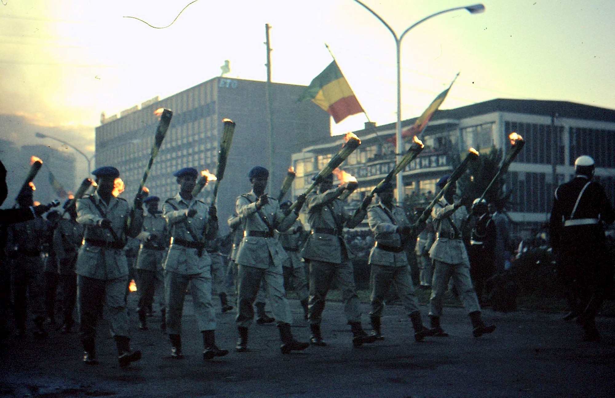 1968 Аддис-Абеба Факельное шествие в честь праздника крещения Иисуса Христа в Иордане от Иоанна Крестителя