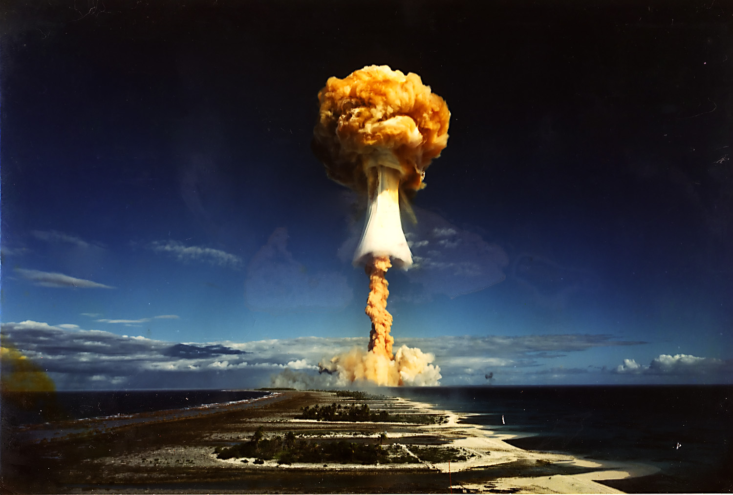 French 'Canopus' nuclear weapons test at Fangataufa atoll; August 24, 1968а