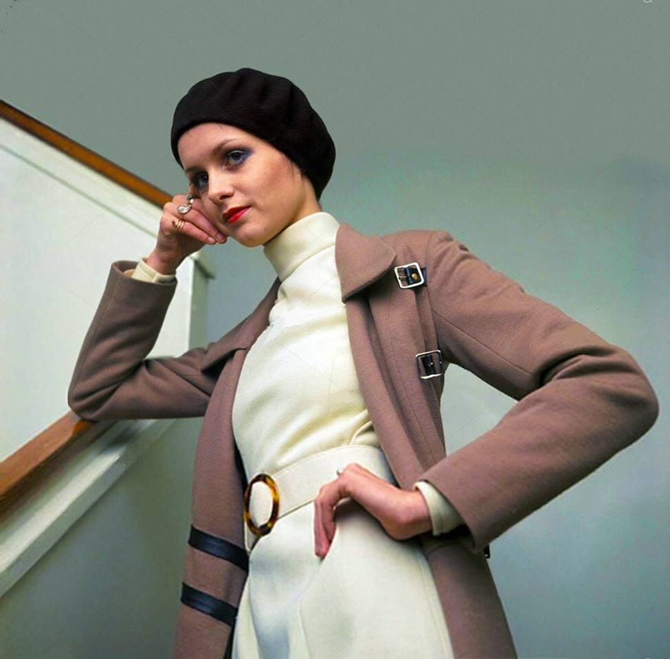 Twiggy photographed by Tony Gale in January 1968