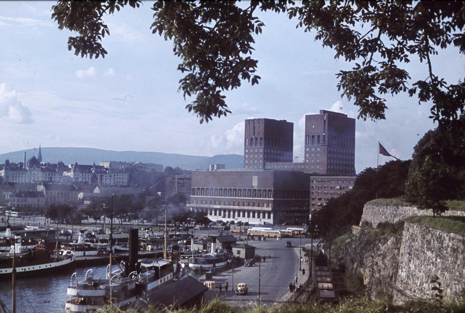 1936-38 Осло. Вид на гавань и город