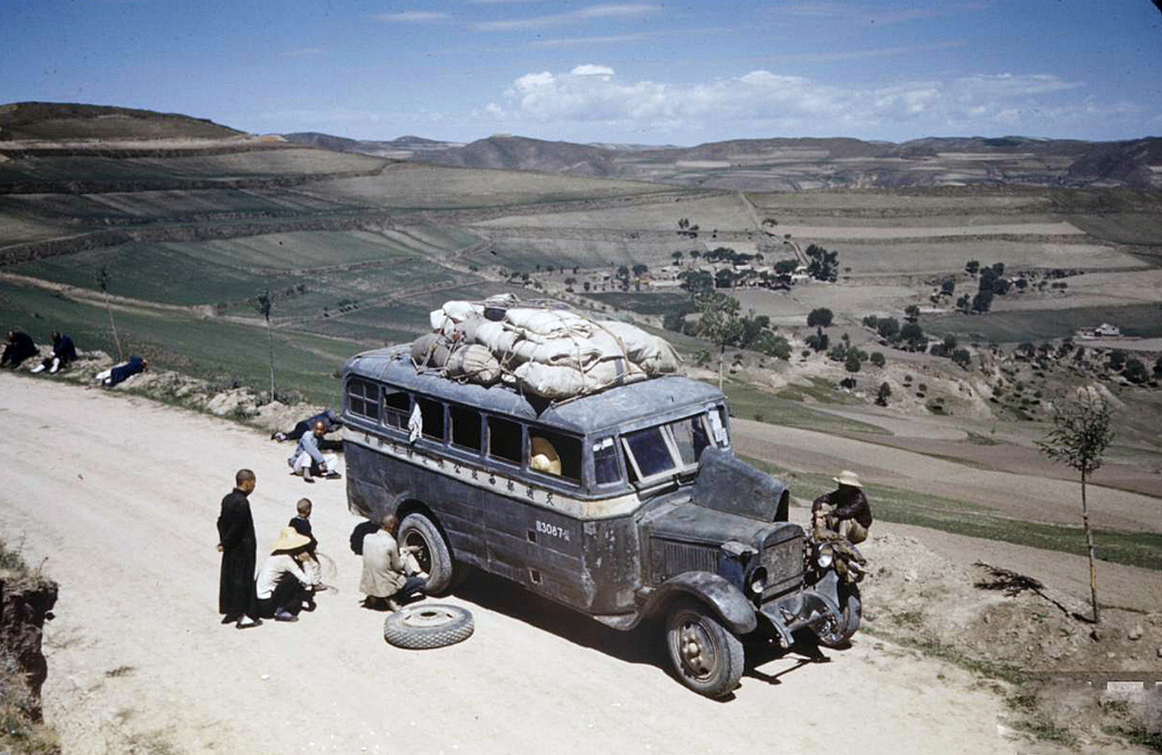 1938 Bus in Kansu China by Carl Mydans2