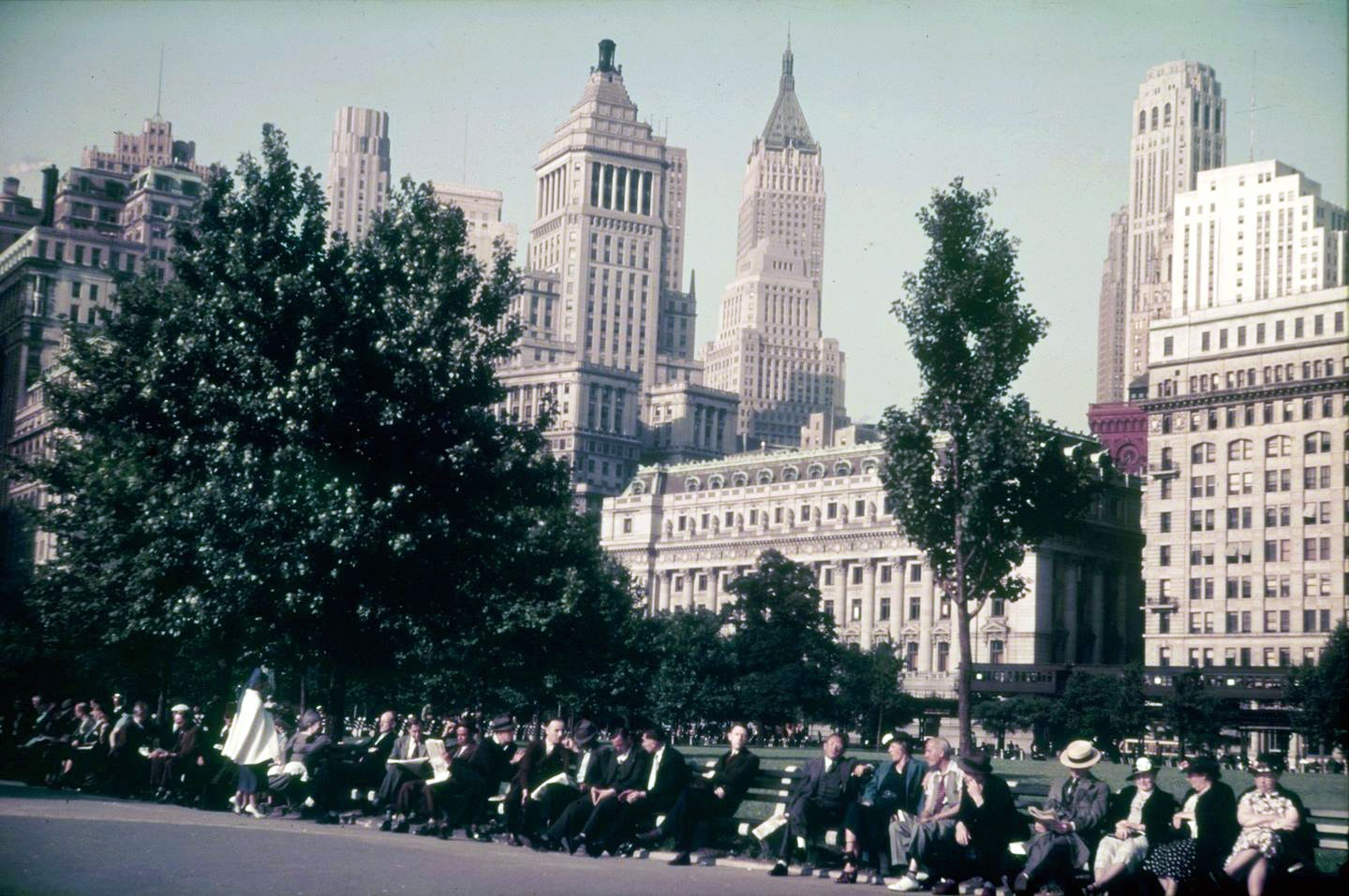 1938 New York City, Battery Park by Franz Grasser
