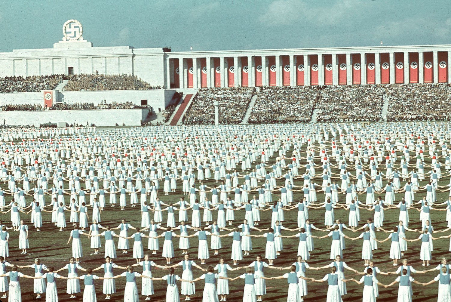 League of German Girls dancing during the 1938 Reich Party Congress Nuremberg