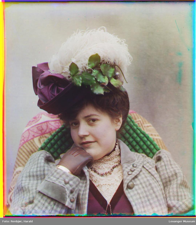 1907-1909 Портрет женщины в шляпе. Харальд Ренбьёр, Harald Renbjør (1889–1956)