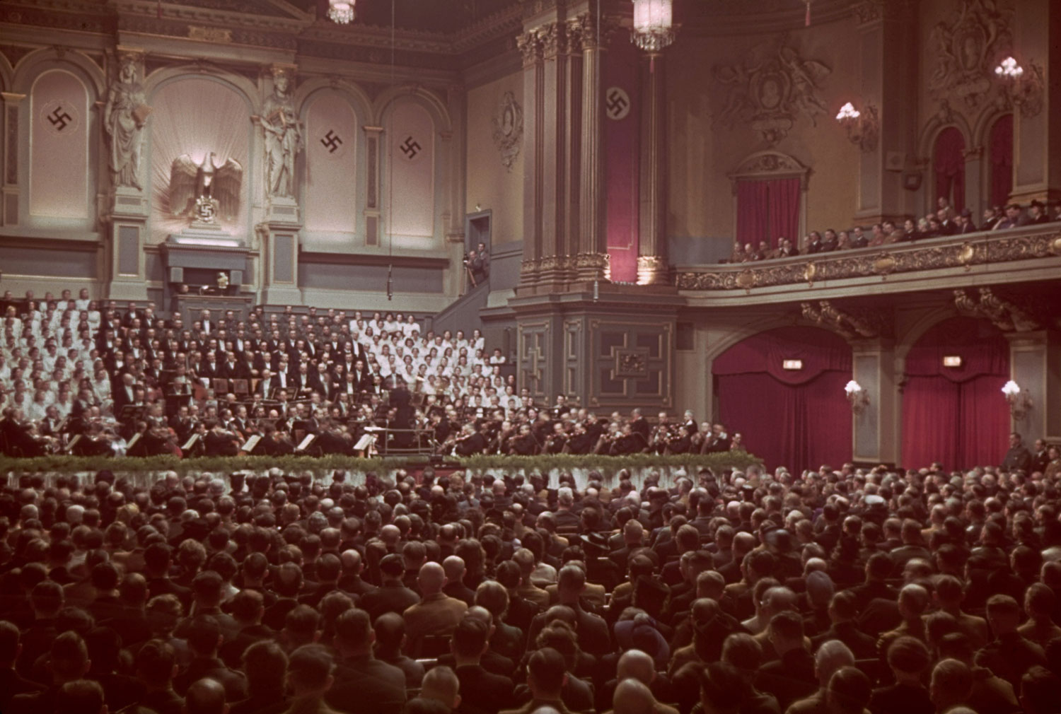 1943 Hitler's 54th birthday- the Philharmonie by Jaeger
