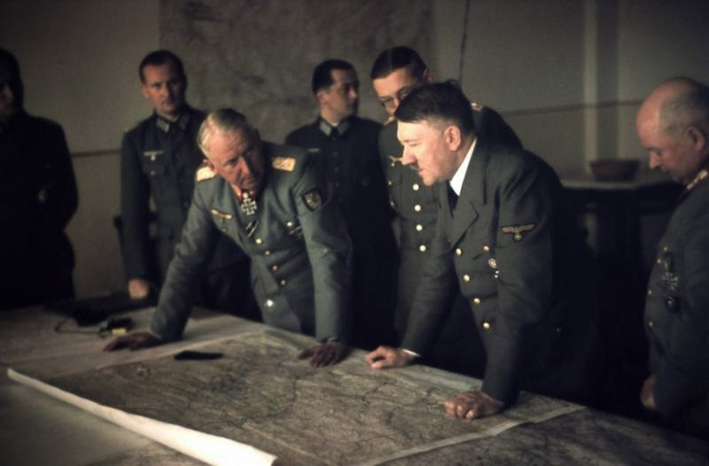 Adolf Hitler with Field Marshal Erich von Manstein at the briefing 15 September 1943