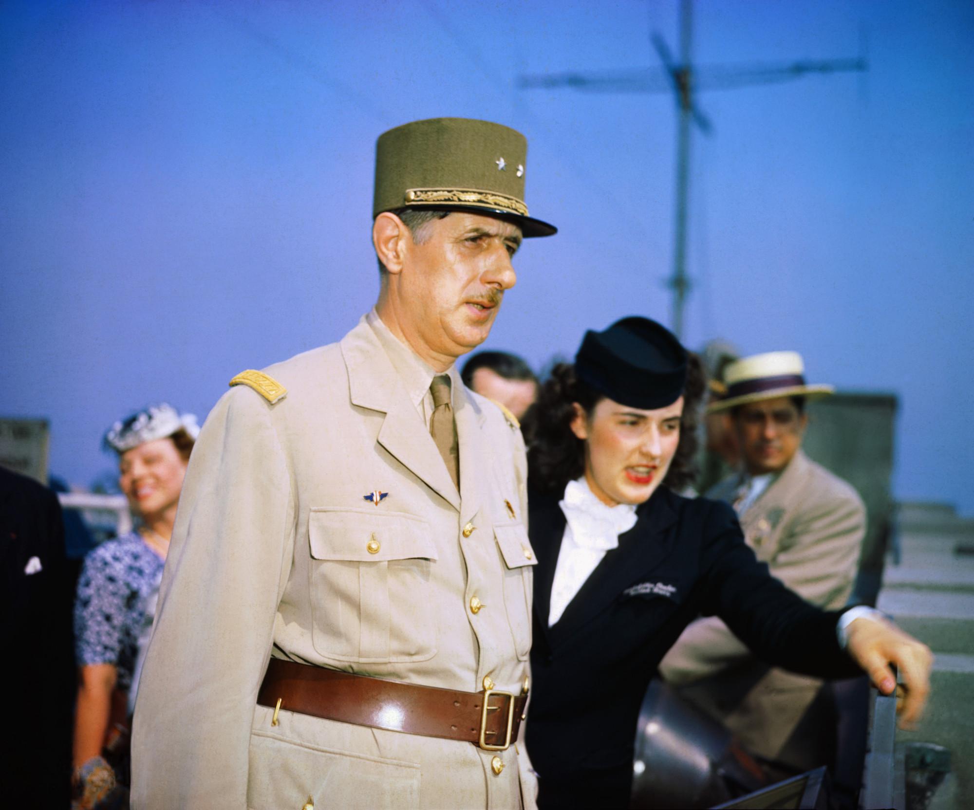 General Charles de Gaulle at Casablanca Conference 1943