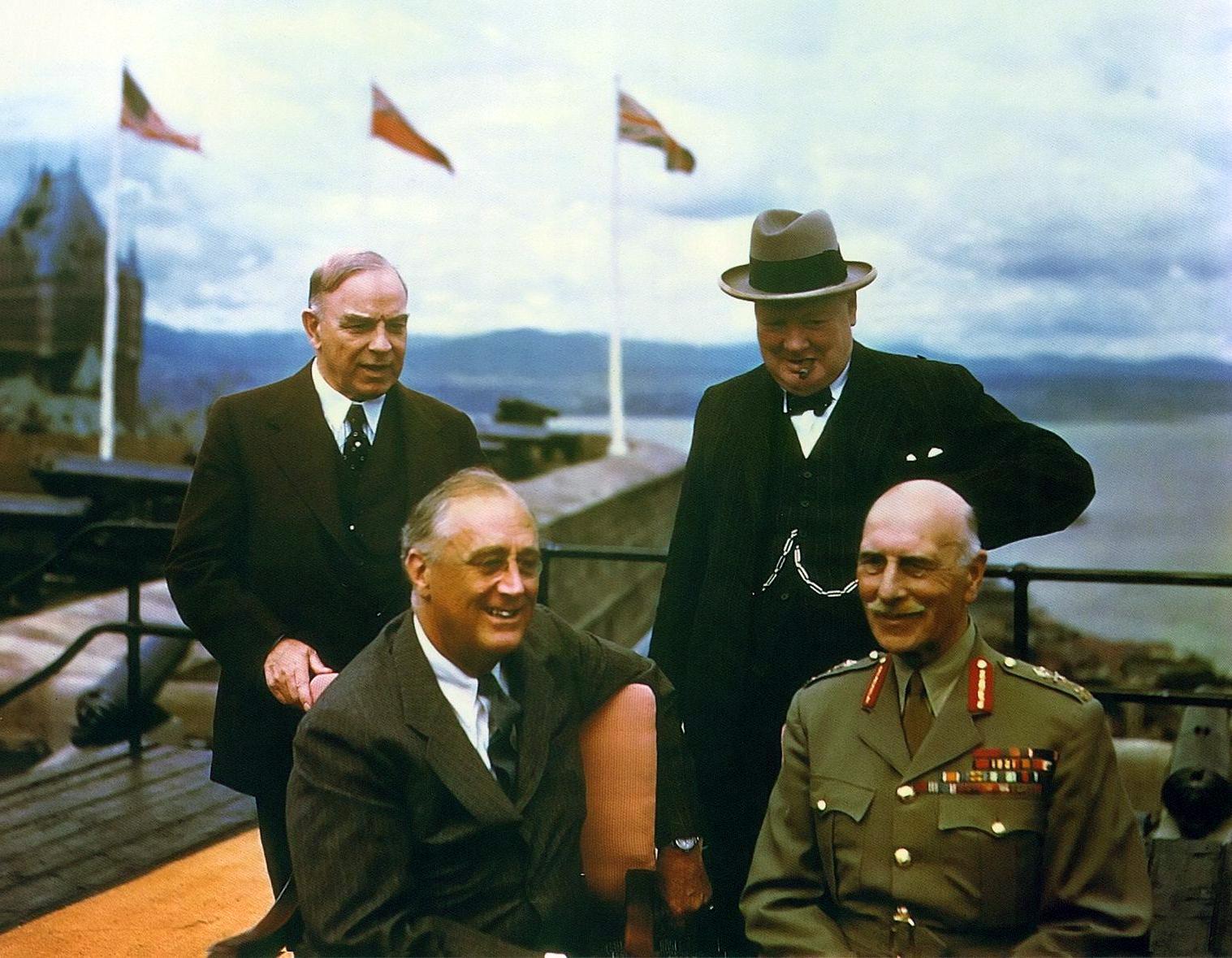 Франклин Рузвельт, 1943, Конференция в Квебеке, Черчилль и Маккензи