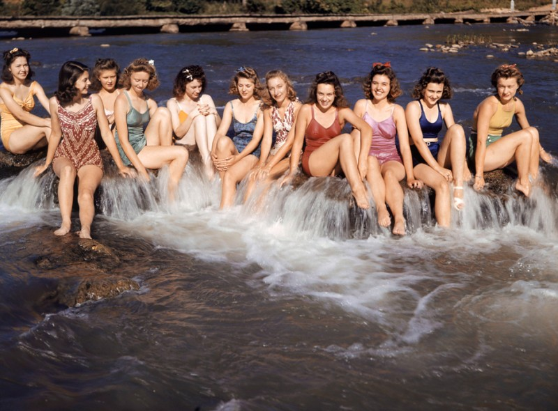 1943  Spring River Arkansas by ANthony Stewart