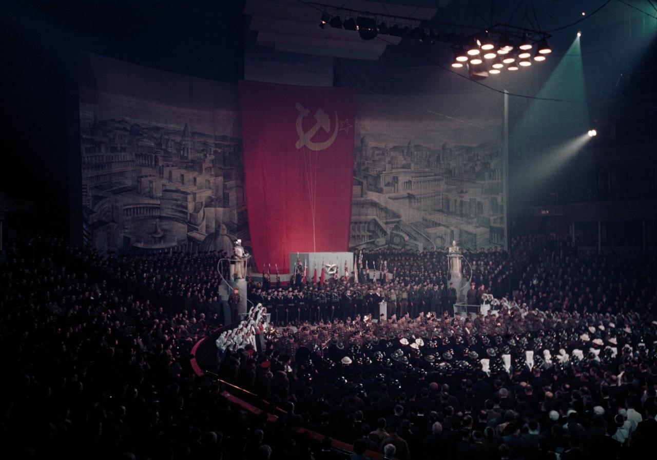 Торжественное празднование в честь Красной Армии в Королевском Альберт Холле