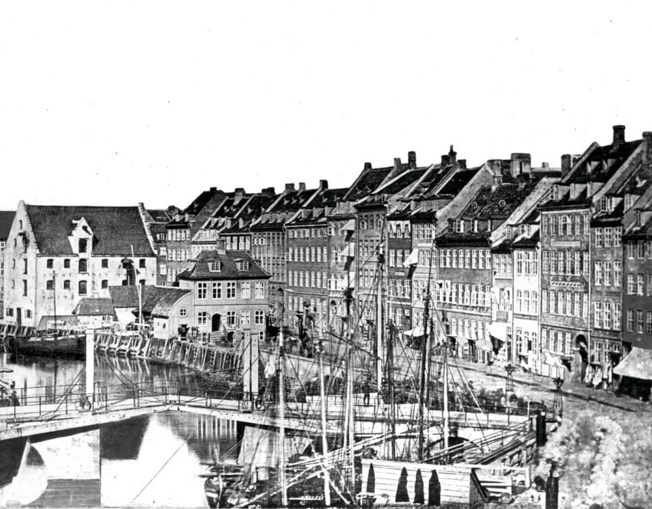1840 Copenhagen Gammel Strand efter-daguerreotypi
