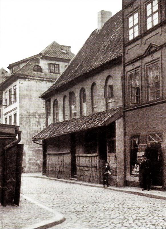 Hoekerstrasse 10 Последний готический дом  перед сносом 1911