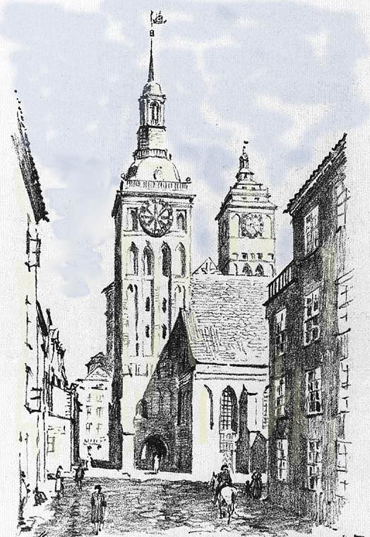 1810е Старая Альтштадтская кирха перед сносом
