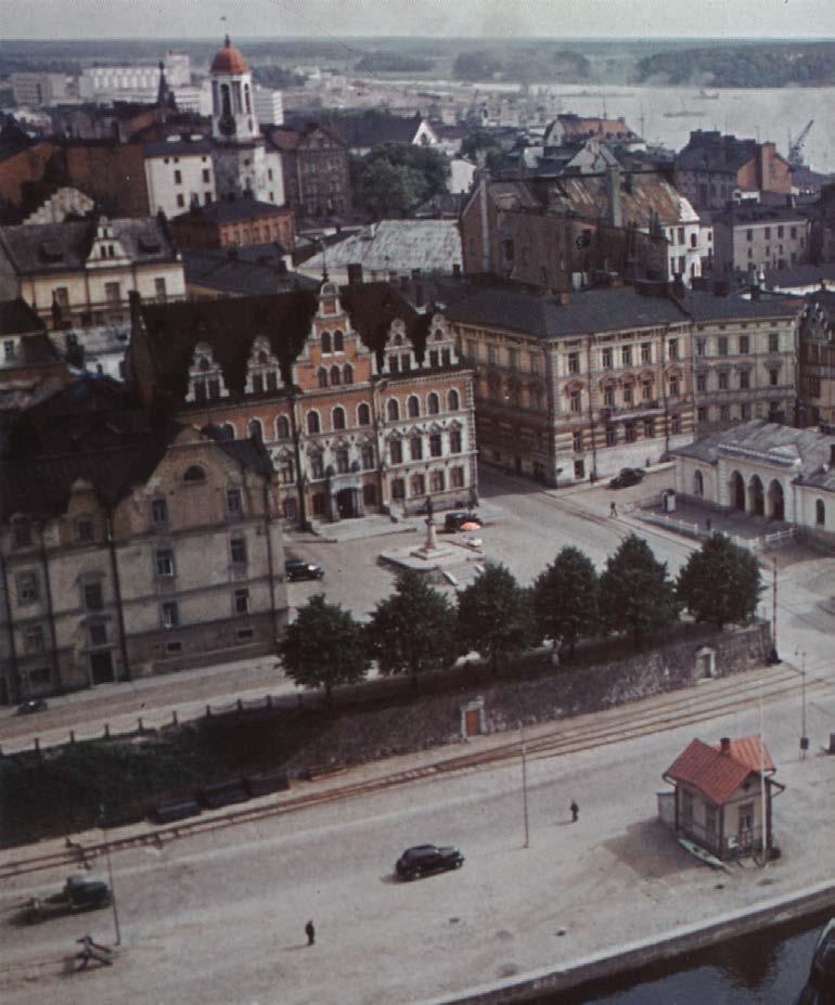 1939 Вид с башни Выборгского замка на площадь Торккелин Кнуутинпоян тори летом 1939