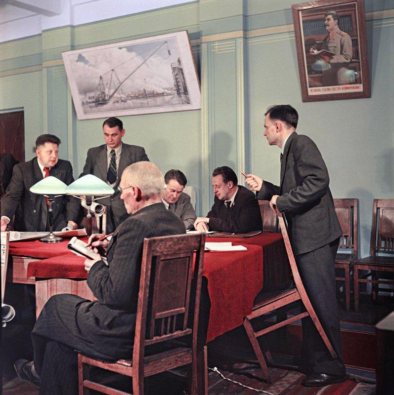 1951 Уральский завод тяжелого машиностроения (Уралмаш). Заседание партийного комитета. Бальтерманц Д.Н.