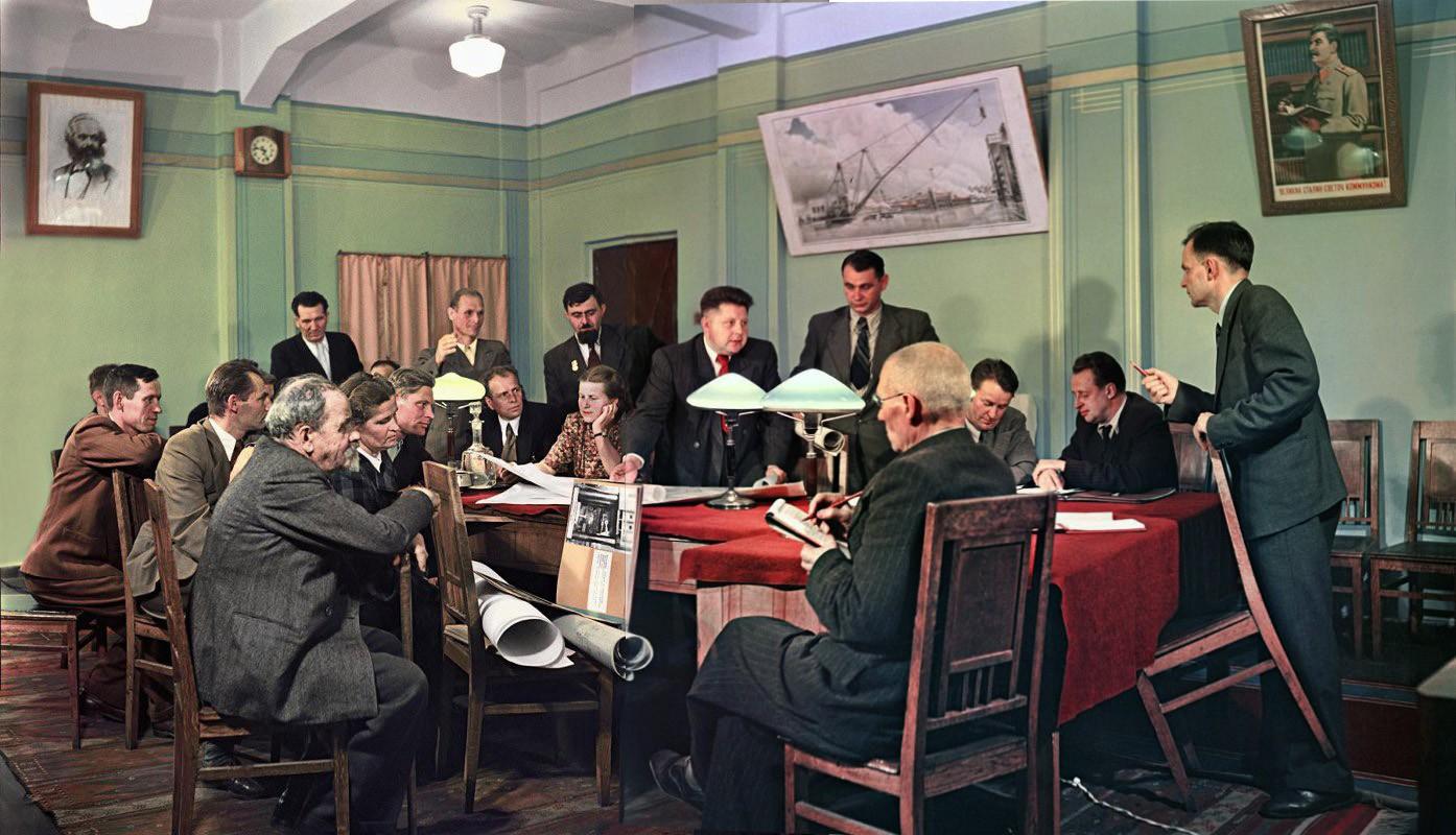 1951 Уральский завод тяжелого машиностроения (Уралмаш). Заседание партийного комитета. Бальтерманц Д.Н.3