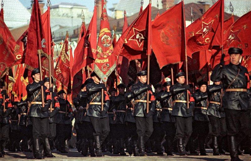 1967 Парад на Красной площади в честь 50-летия Великой Октябрьской социалистической революции. А.Бочинин