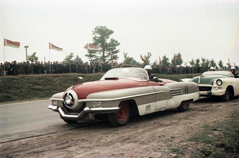 1956 Чемпионат СССР по автомобильным гонкам. Васин С.И.