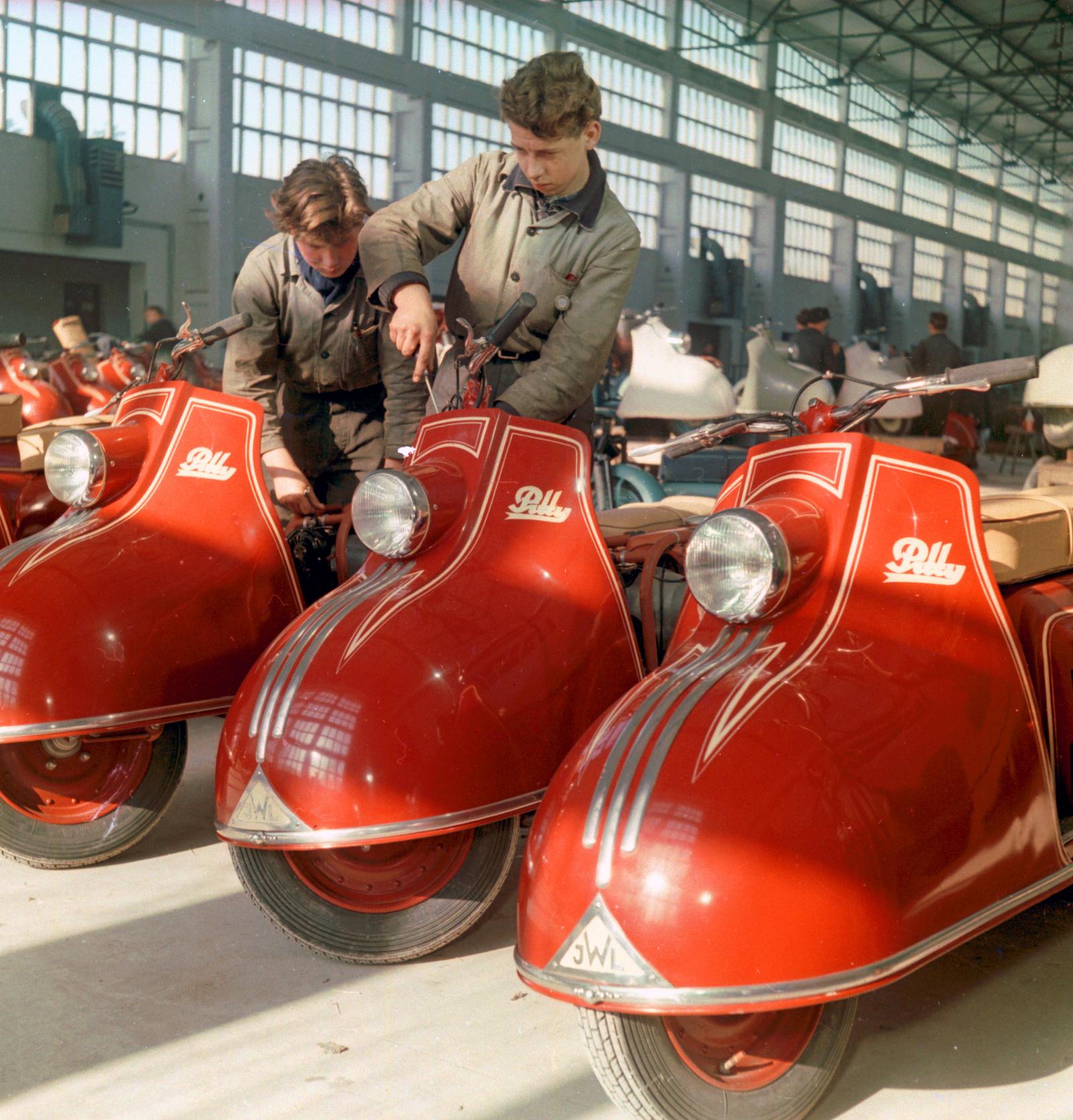 1955 Мотороллер IWL Pitty. ГДР. Wolfgang Schroeter