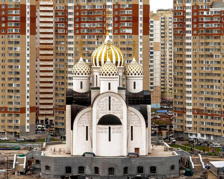 Никольский Храм в Павшинской Пойме (строящийся)
