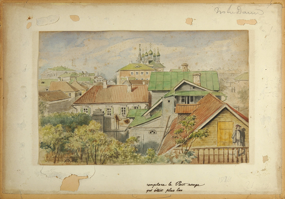 Неизвестный вид старой Москвы, 1844 год