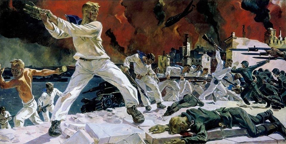 Оборона Севастополя. Дейнека. 1942