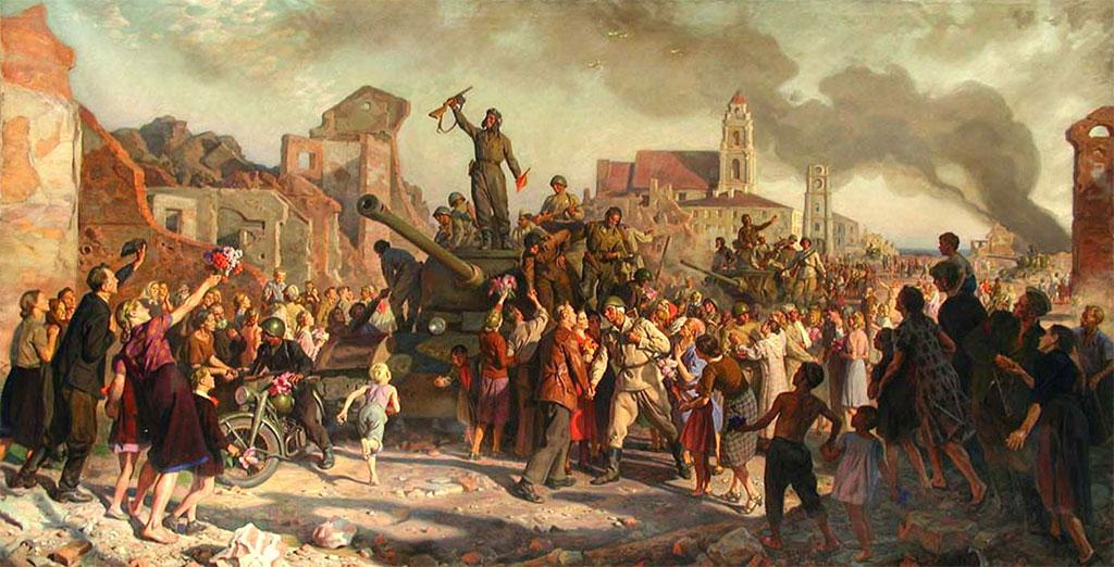 Минск 3-го июля 1944 года. В.В.Волков