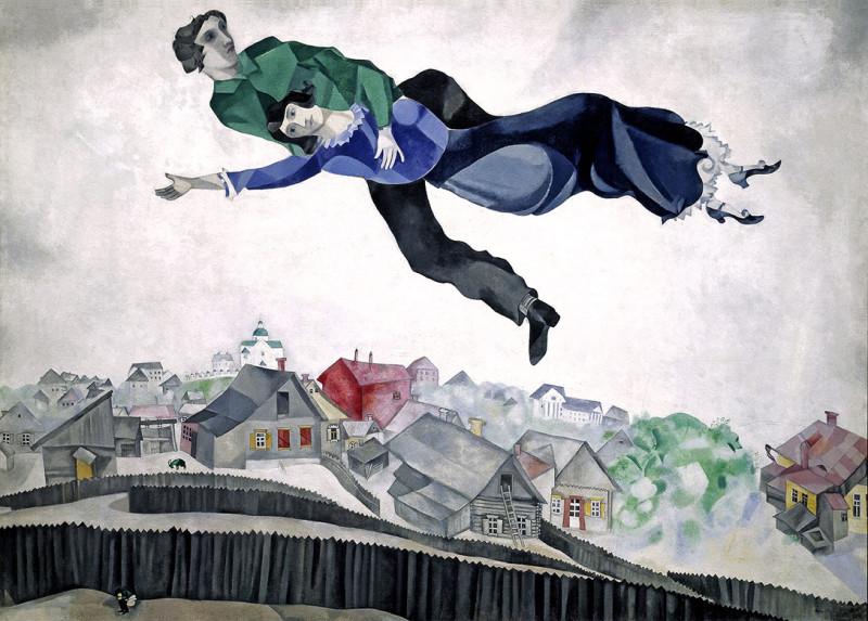 Над городом. Шагал. 1914-1918