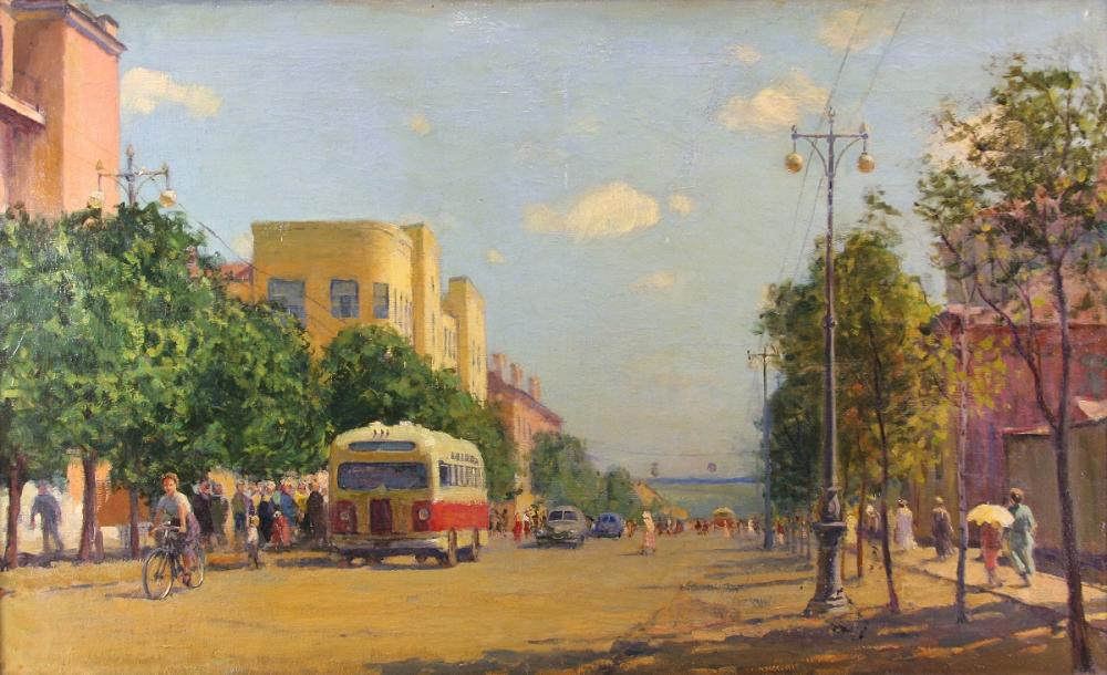 Хрымов В.Д. Новый Саранск. 1950-е. Холст, масло