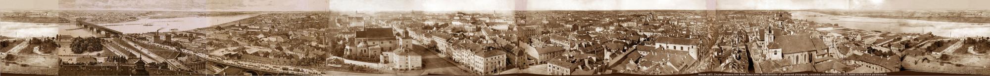 Круговая панорама Варшавы, 1873 год