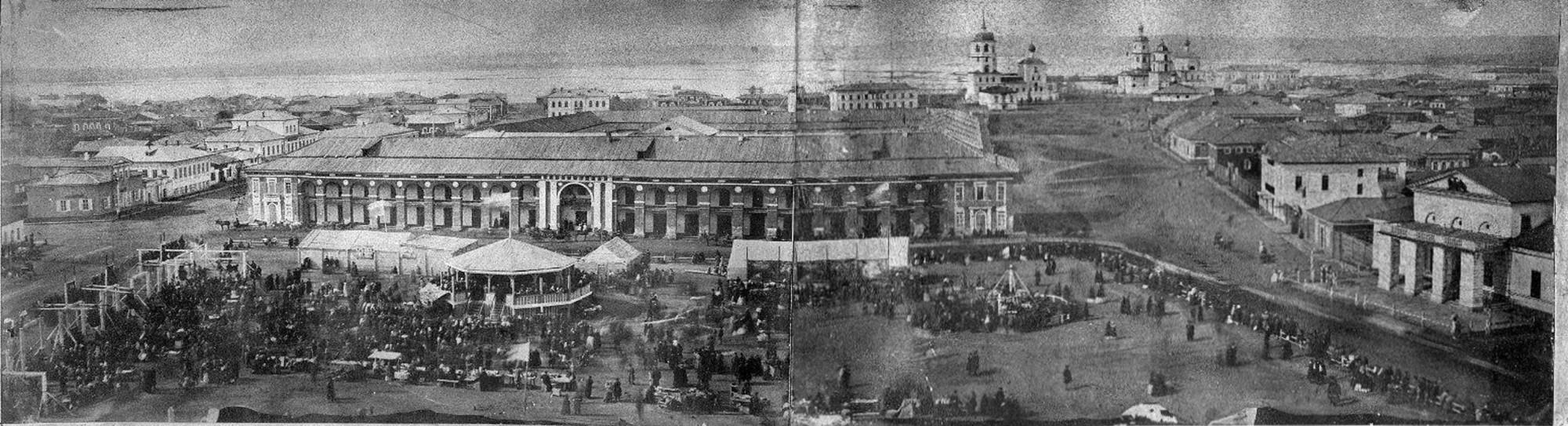 1860е Вид на Мещанские ряды с колокольни Тихвинской церкви2