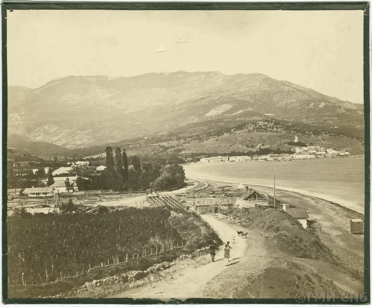 1866 Ялта. Вид на город с противоположного берега Ялтинского залива. Донерстаг
