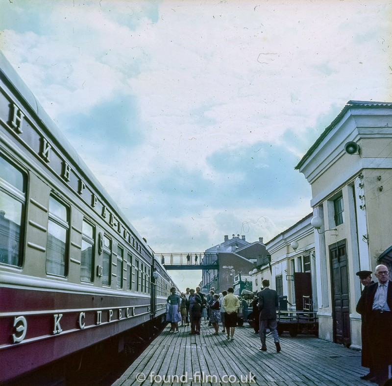 1957 Railway Station in Russia