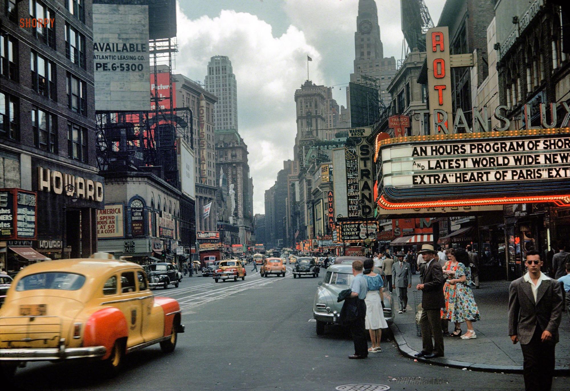 1949 New York, Manhattan, Times Square1