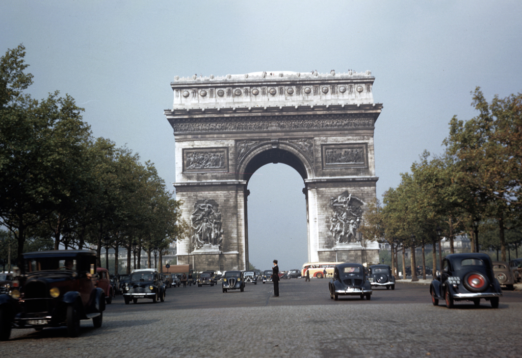 1949 Paris Arc de Triomphe