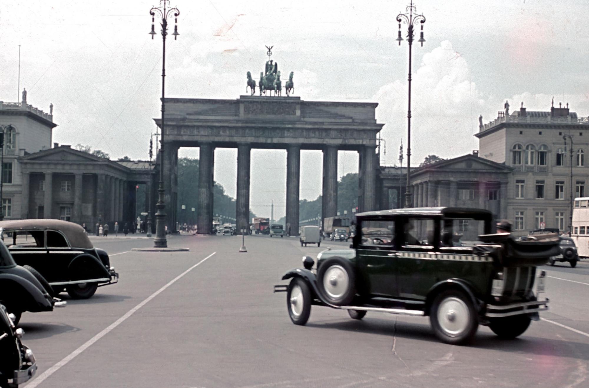 1939 Berlin Pariser Platz and Brandenburger Tor by Sobotta