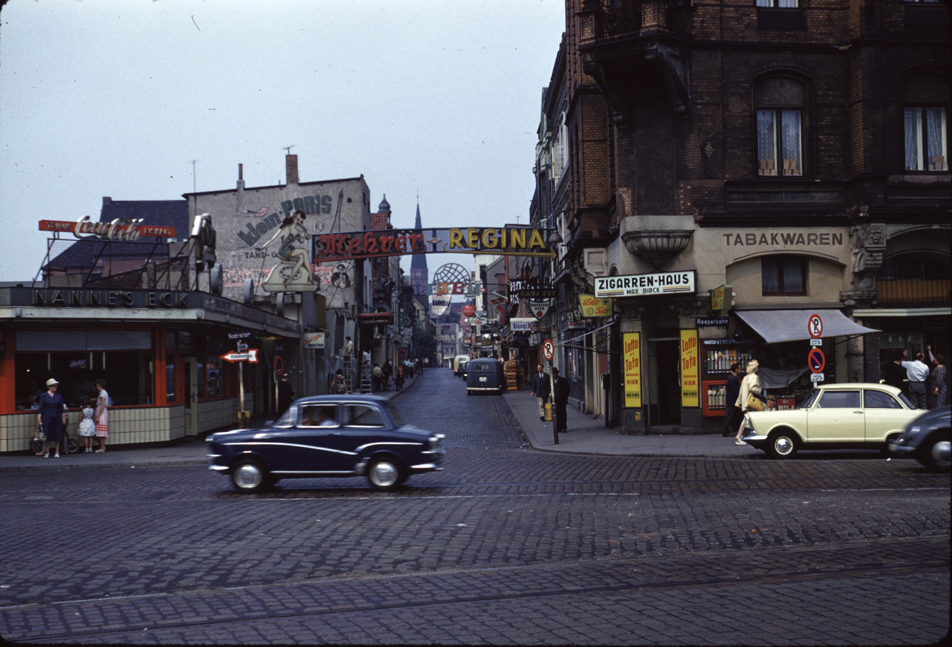 1959 or 1960 Hamburg Reeperbahn