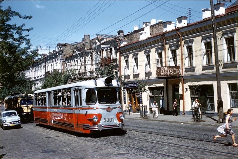1959 Киев самый первый вагон марки ЛМ-57, единственный экземпляр в оригинальном дизайне