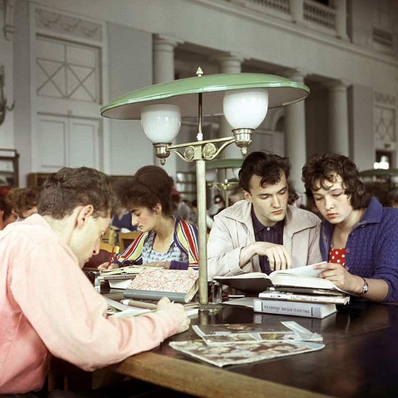 1962 В читальном зале Государственной библиотеки СССР имени В.И. Ленина в Москве. Давид Шоломович, РИА Новости