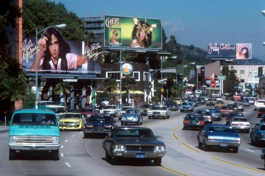 1979 LA Eddie Money Cher and Judy Collins at Sunset Strip