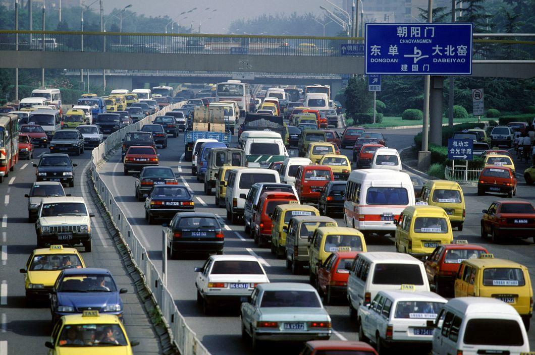 1999 Beijing morning rush-hour by Stuart Franklin