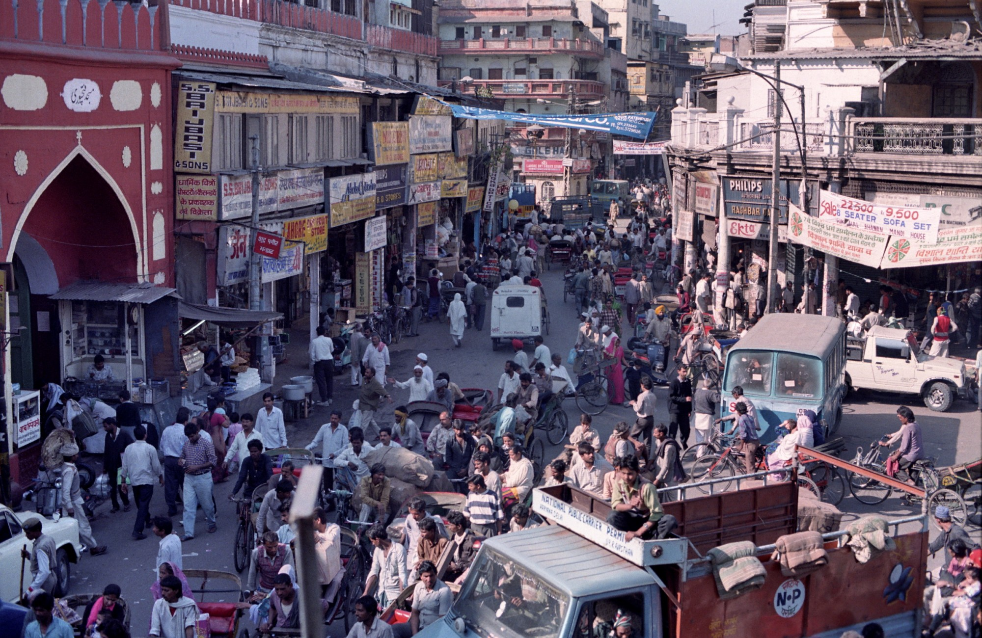 1994 Dheli (Old) Chandni Chowk Street near entrance to Fateh Puri mosque