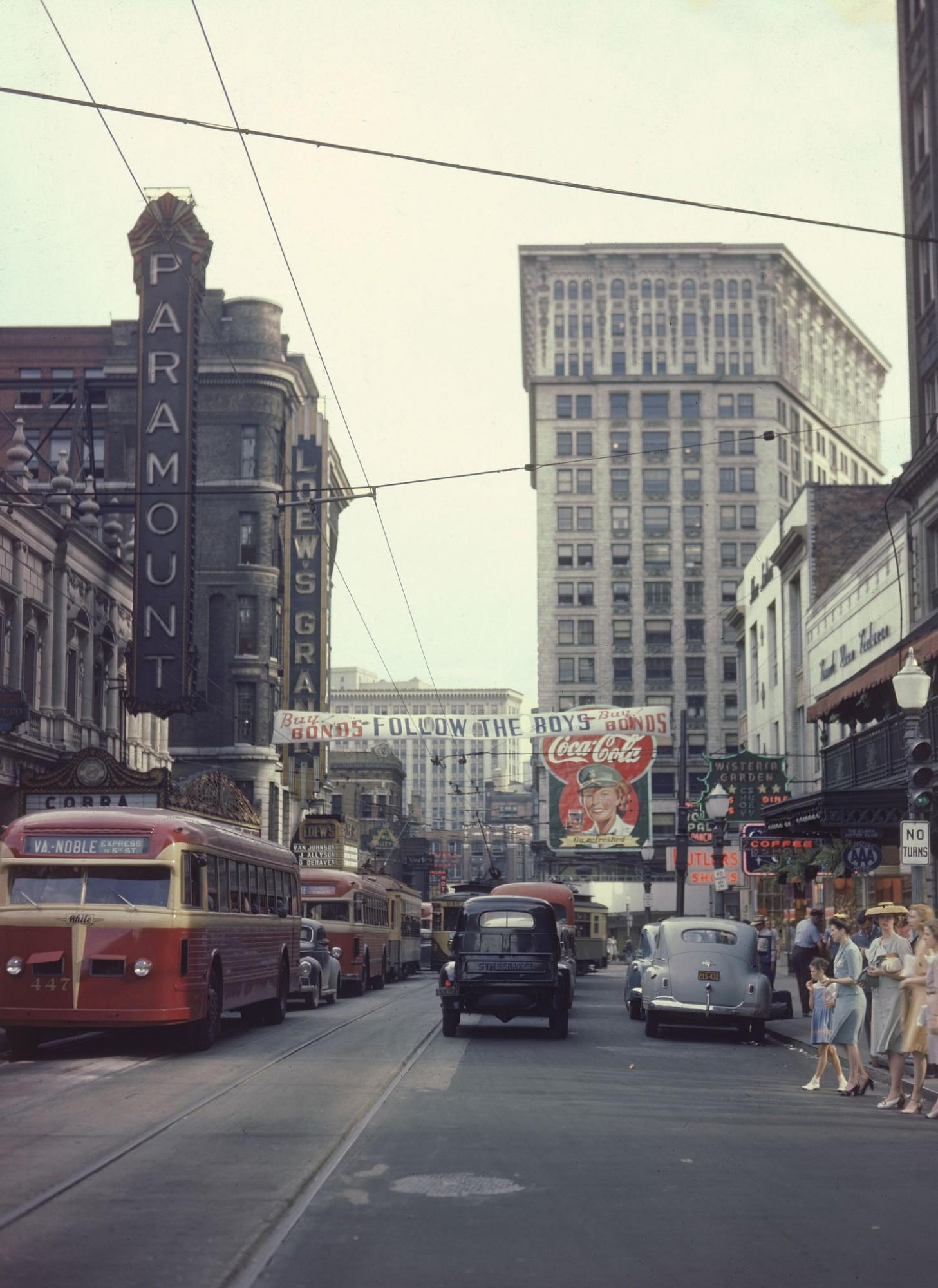 1944 Atlanta Peachtree street by Walter Sanders