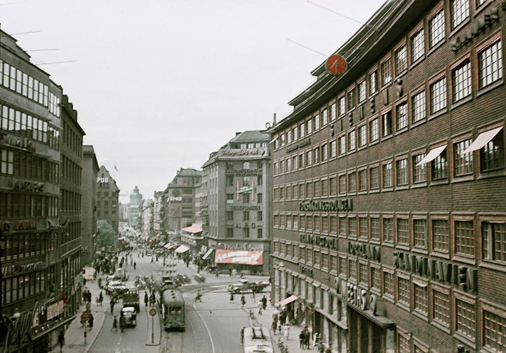 1944 Stockholm Kungsgatan street