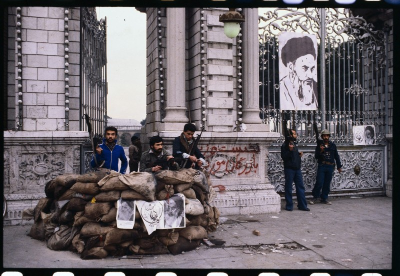1979 Iran's Revolutionary Guards Guard Key Tehran Positions