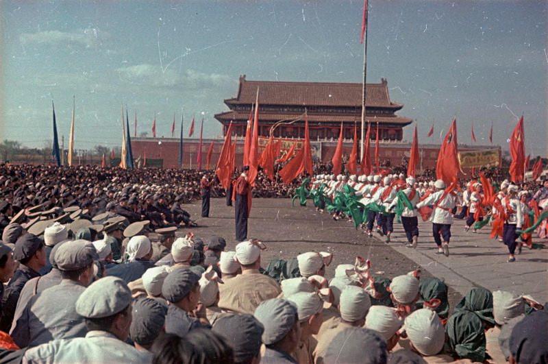 1949 Торжества на площади Тяньаньмэнь 1 октября 1949 г.3