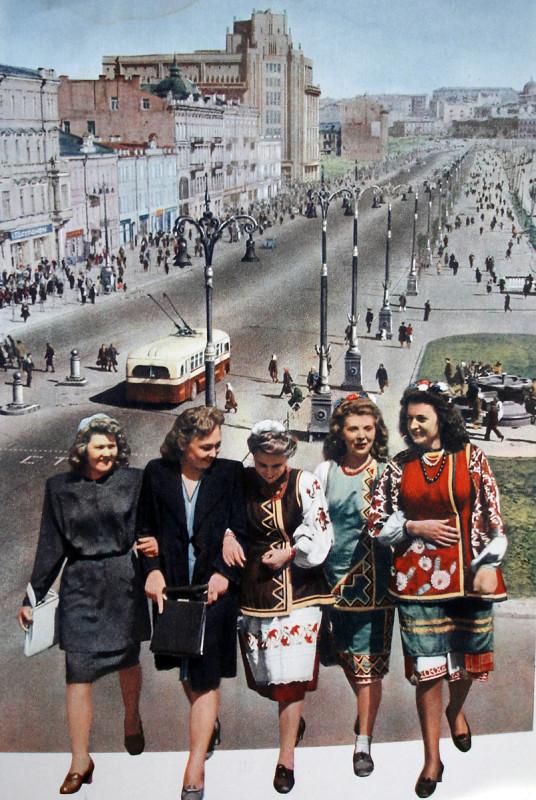 1949 Киев из журнала СССР на стройке