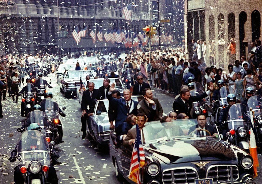 13 августа 1969 Встреча экипажа Аполлона-11 в США